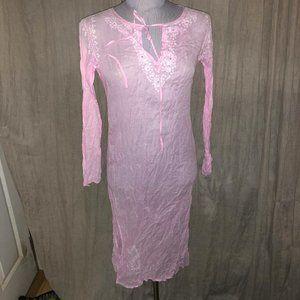 Roberta Roller Rabbit Freymann baby pink dress S